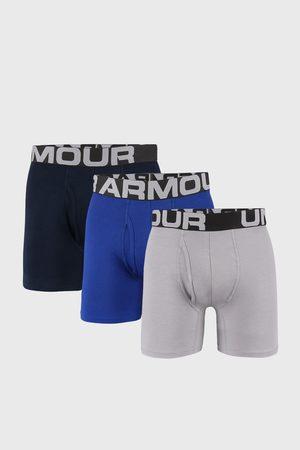 Under Armour 3 PACK modrošedých boxerek Cotton