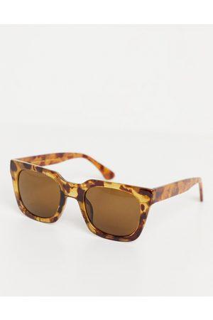 A.Kjaerbede Sluneční brýle - Nancy unisex 70s square sunglasses in light brown tort