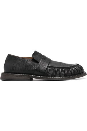 MARSÈLL Alluce grained leather loafers
