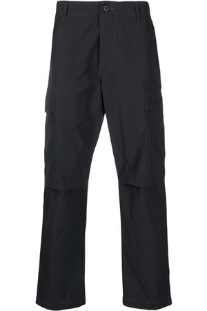Maharishi Logo-embroidered military-style trousers