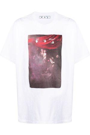 OFF-WHITE Caravaggio-print Arrow T-shirt