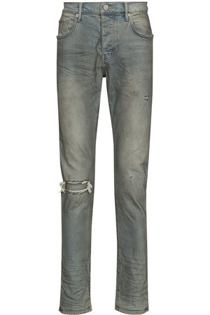 Purple Brand Distressed-look mid-rise jeans