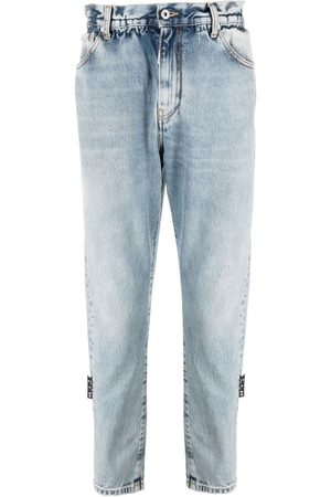 OFF-WHITE Slim-fit belted jeans