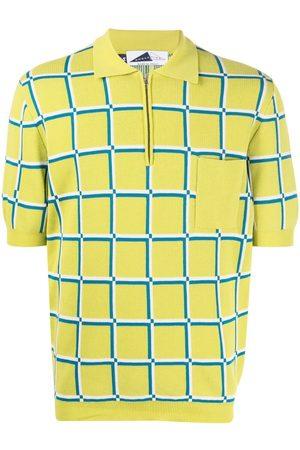 Anglozine Check-print short-sleeved polo shirt