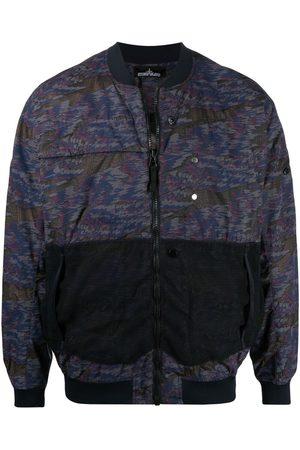 Stone Island Geometric print bomber jacket