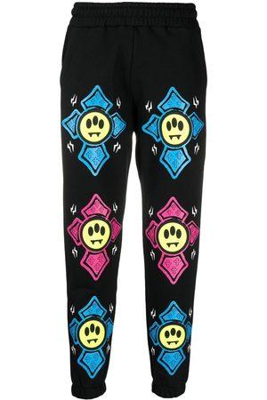 BARROW Tepláky - Graphic-print mid-rise track pants