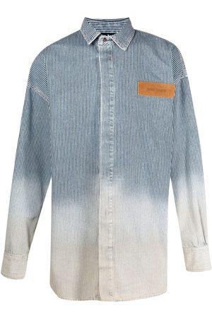 Palm Angels Bleached denim shirt