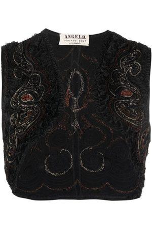 A.N.G.E.L.O. Vintage Cult 1990s embroidered sleeveless bolero