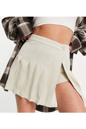 Collusion Tailored skort in stone co-ord-White