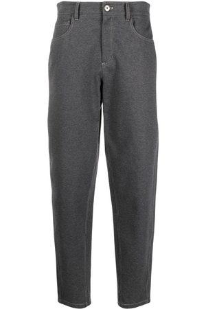 Brunello Cucinelli Ženy Strečové - High-waist stretch-cotton trousers