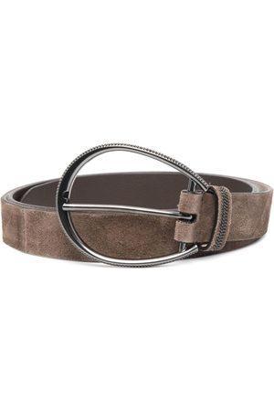 Brunello Cucinelli Suede buckle belt