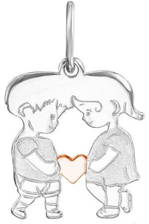 JVD Dívky Šperky - Zamilovaný bicolor přívěsek Chlapec a dívka SVLP0591XH2BK00