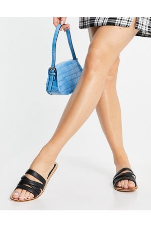 Accessorize Multi strap sandals in black leather