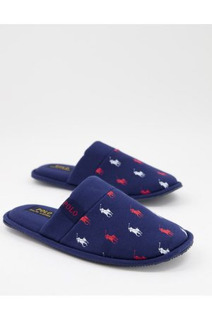 Polo Ralph Lauren Muži Pantofle - Summit scuff logo slippers in navy red