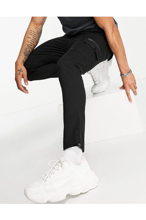 ASOS Muži Chino - Skinny trousers with MA1 pocket-Black