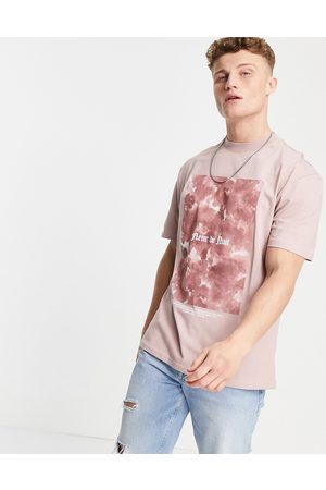 River Island T-shirt with print in pink