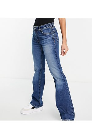 COLLUSION Ženy Bootcut - X008 rigid flares in blue