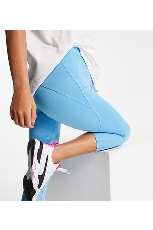 ASOS 4505 Ženy Legíny - Maternity icon run tie waist capri legging-Blue
