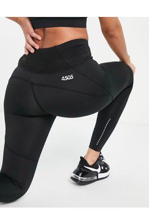 ASOS 4505 Ženy Legíny - Icon run tie waist legging with pocket-Black