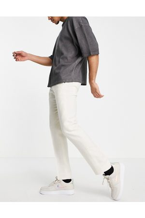 Twisted Tailor Linen suit trousers in stone white-Neutral