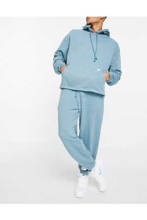 ASOS Co-ord oversized joggers in overdyed blue marl