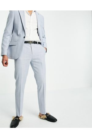 River Island Linen suit trousers in blue
