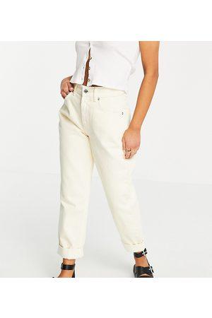 ASOS Ženy S vysokým pasem - ASOS DESIGN Petite high rise 'slouchy' mom jean in lemon-Yellow