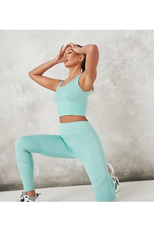 Missguided MSGD co-ord legging with deep waistband in teal-Green