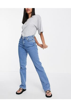 NA-KD Straight leg jeans in blue