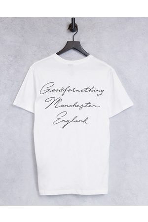 Good For Nothing T-shirt in white with logo chest and back script print