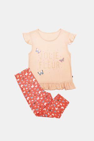 Dodo Dívky Pyžama - Dívčí pyžamo Lila oranžové