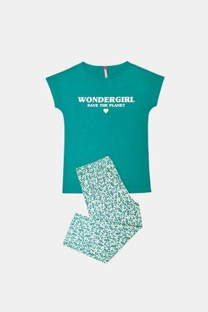 Lina Pink Dívčí pyžamo Save planet zelené