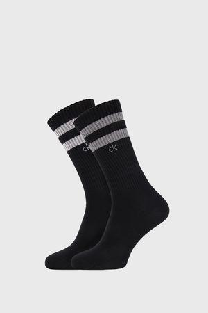 Calvin Klein Muži Ponožky - 2 PACK černých ponožek Maurice