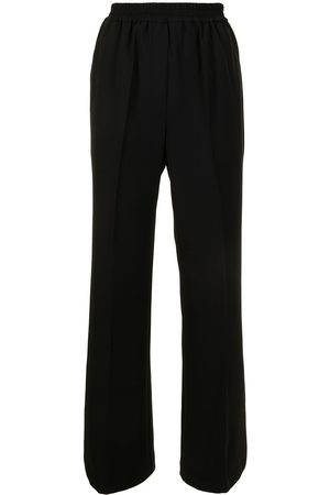 GOODIOUS Slit-cuff twill trousers