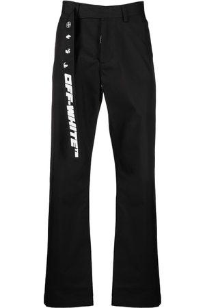OFF-WHITE Muži Rovné nohavice - Motif strap trousers