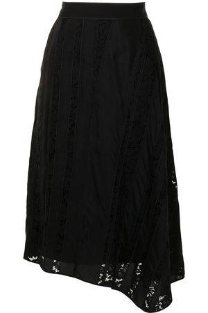 Nº21 Ženy Asymetrické - Asymmetric lace-panel skirt