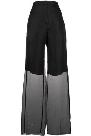 Jil Sander Ženy Široké nohavice - Sheer layered trousers