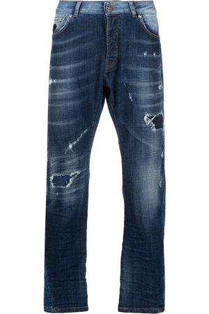 John Richmond Muži Rovné nohavice - Mick distressed straight-leg jeans