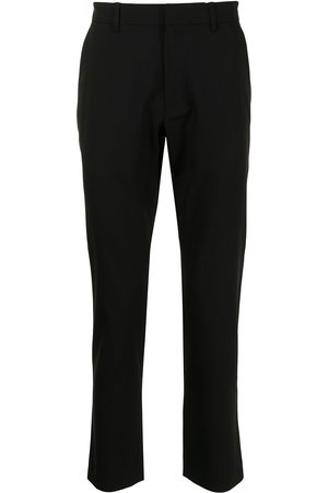 Ports V Contrast-trimmed straight trousers