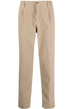 Incotex Muži Rovné nohavice - Logo-plaque straight-leg trousers