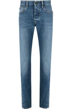 Emporio Armani Muži Rovné nohavice - Mid-rise straight leg jeans