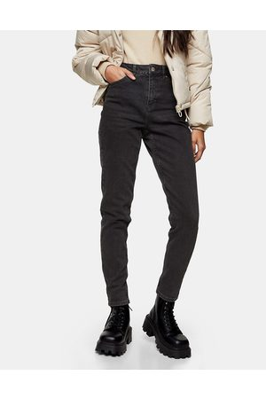 Topshop Mom tapered jeans in washed black