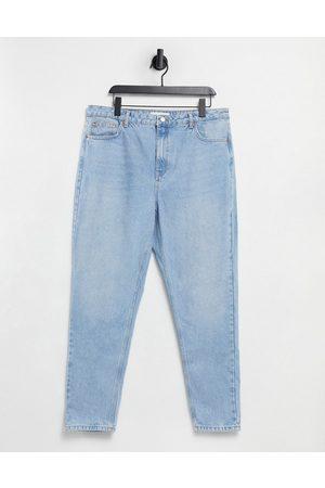 Topshop Ženy Mom džíny - Mom jeans in bleach wash-Blue