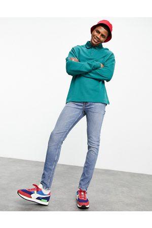 ASOS Muži Skinny - Skinny jeans in vintage mid wash blue