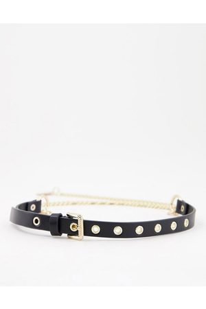ASOS Hanging chain waist and hip belt in black