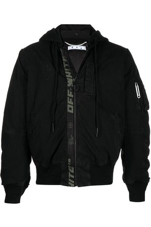 OFF-WHITE Muži Bombery - Logo-print ruched bomber jacket