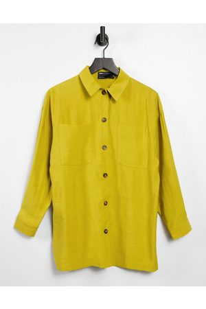 ASOS Ženy Bundy - Relaxed shacket suit in chartreuse-Yellow