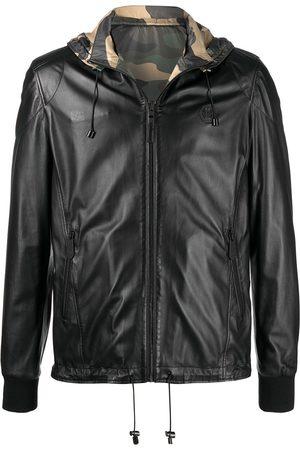 Philipp Plein Muži Kožené bundy - Reversible camouflage print jacket