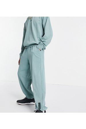 Puma Muži Tepláky - Oversized joggers in washed green exclusive to ASOS