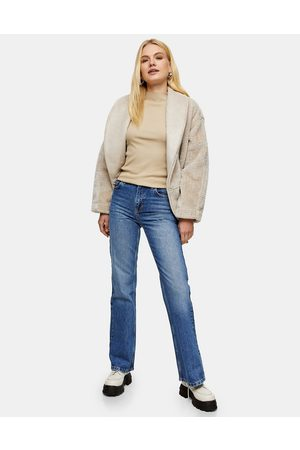 Topshop Two 90s flare jeans in mid blue